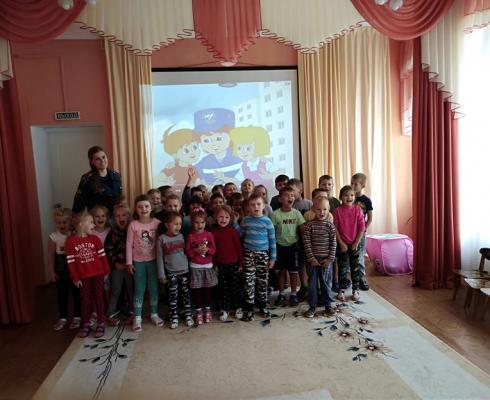Всреча со старшим инспектором ОНД и ПР в детском саду №6